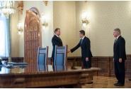 Întâlnirea premierului Sorin Grindeanu și ministrului Finanțelor Publice, Viorel Ştefan, cu președintele României, Klaus Iohannis