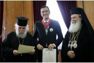 Întrevederea cu Theophilos al III-lea, Patriarhul grec-ortodox al Ierusalimului (Palatul Patriarhiei)