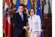 Declaraţii de presă comune susţinute de premierul Sorin Grindeanu şi guvernatorul Landului Austria Inferioară, Johanna Mikl-Leitner