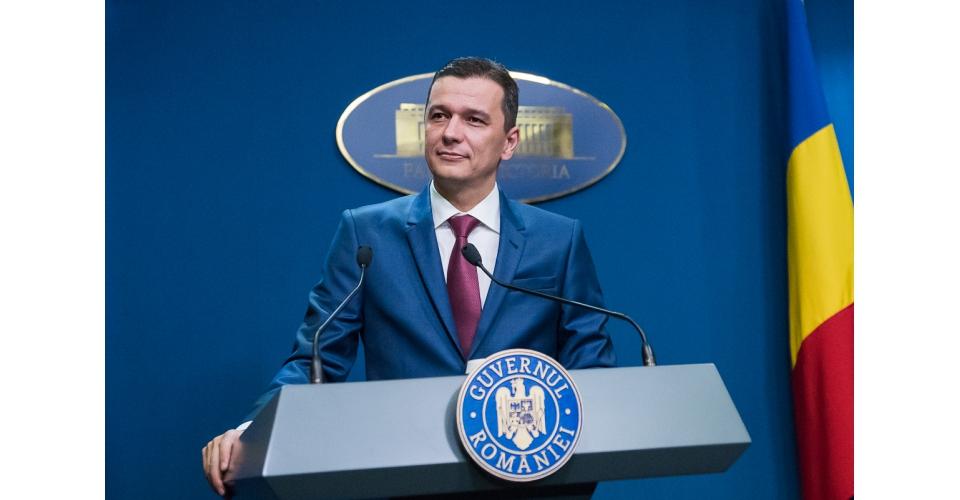Conférence de presse donnée par le Premier ministre Sorin Grindeanu au Palais Victoria