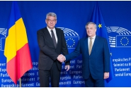 Întrevederea premierului Mihai Tudose cu Antonio Tajani, președintele Parlamentului European