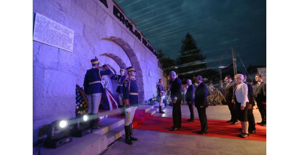 Le Premier ministre Mihai Tudosea participé à la cérémonie commémorative du Centenaire de la(...)