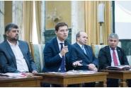 Entrevue du vice-Premier ministre  Ion-Marcel Ciolacu avec le personnel diplomatique  de la représentation de la Roumanie auprès de l`UE