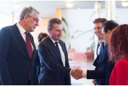 Prime Minister Mihai Tudose met with the European Commissioner for Budget and Human Resources, Günther Oettinger
