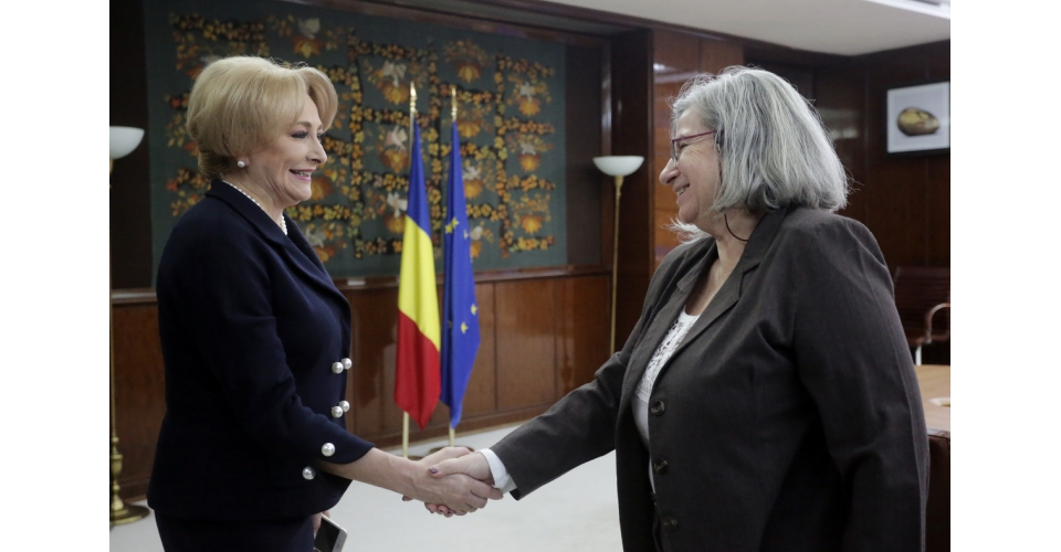 Prime Minister Viorica Dancila met the Ambassador of the State of Israel, H.E. Tamar Samash