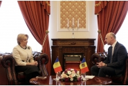 Întâmpinarea premierului Viorica Dăncilă de către prim-ministrul Republicii Moldova, Pavel Filip