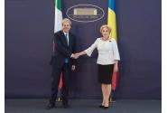 Întâmpinarea președintelui Consiliului de Miniștri al Republicii Italiene, Paolo Gentiloni, de către prim-ministrul Viorica Dăncilă