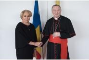 Dejun oficial oferit de premierul Viorica Dăncilă în onoarea Cardinalului Secretar de Stat al Sanctității Sale, E.S. Pietro Parolin