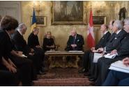 Întâlnire cu Alteța Sa Eminentisimă Frà Giacomo Dalla Torre del Tempio di Sanguinetto, Principe și Mare Maestru al Ordinului Suveran de Malta