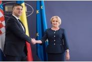 Primirea prim-ministrului Republicii Croația, Andrej Plenković, de către prim-ministrul Viorica Dăncilă