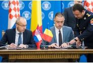 """Semnarea, în prezenţa premierilor, a """"Declaraţiei de Intentie între Guvernul României și Guvernul Republicii Croația privind consolidarea cooperării bilaterale în domeniile apărării și securității"""""""