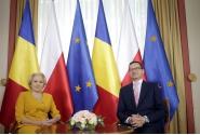 Fotografia oficială a celor doi prim-miniștri