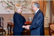 Primirea prim-ministrului României, Viorica Dăncilă, de către preşedintele Republicii Portugheze, Marcelo Rebelo De Sousa