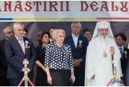 Participarea premierului Viorica Dăncilă la oficierea slujbei de resfințire a Bisericii Mănăstirii Dealu