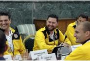 Premierul Viorica Dăncilă, întâlnire cu artiștii fotbaliști români, campioni mondiali în anul Centenarului