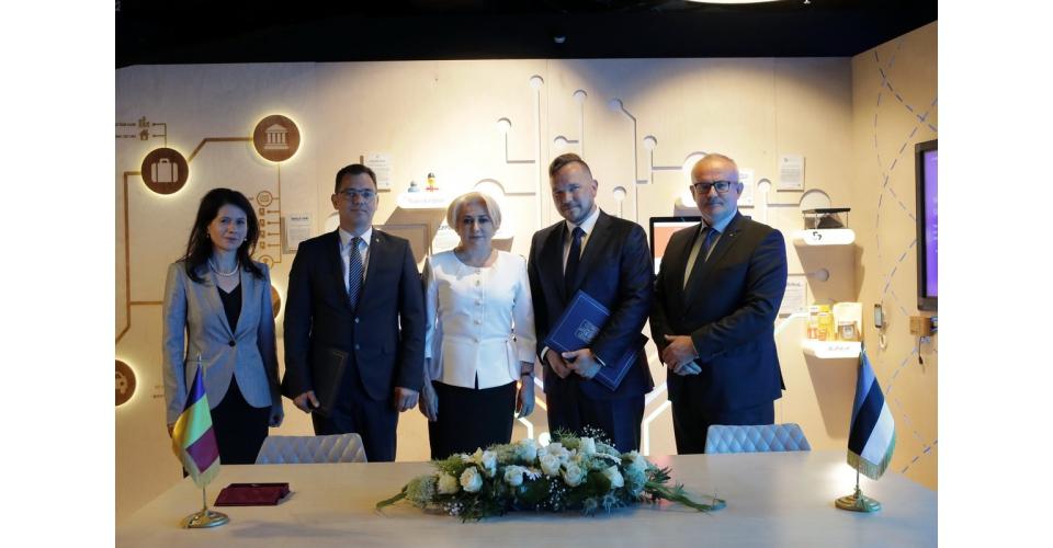 Prime Minister Viorica Dancila 's visit to e-Estonia Showroom