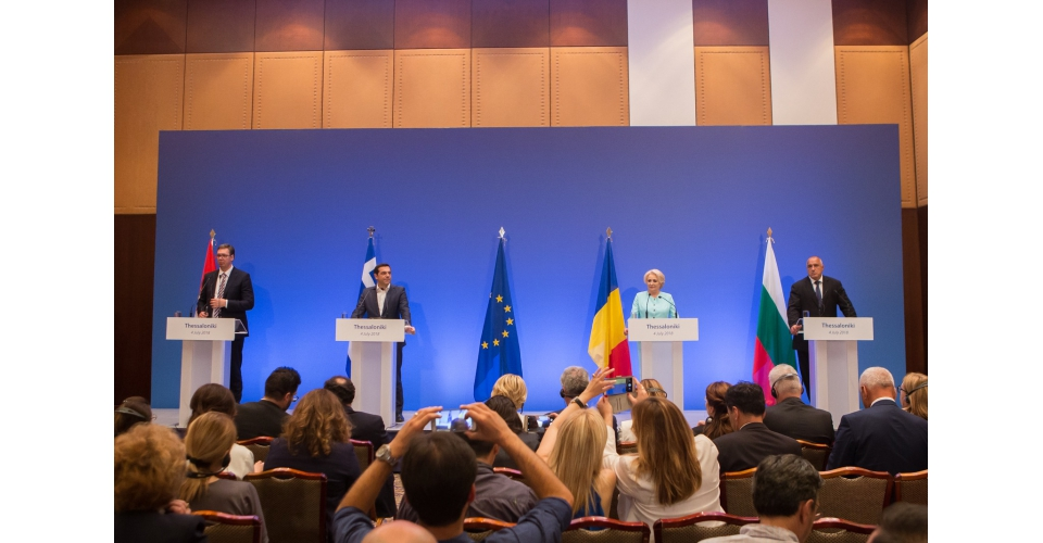 Joint press statements by the Greek Prime Minister Alexis Tsipras, Serbian President Aleksander(...)