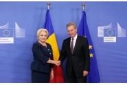 Întrevederea premierului Viorica Dăncilă cu comisarul european pentru Buget și Resurse Umane, Günther Oettinger