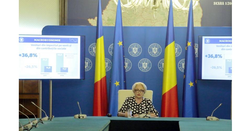 Prime Minister Viorica Dancila presents the Government's six-month stocktaking report