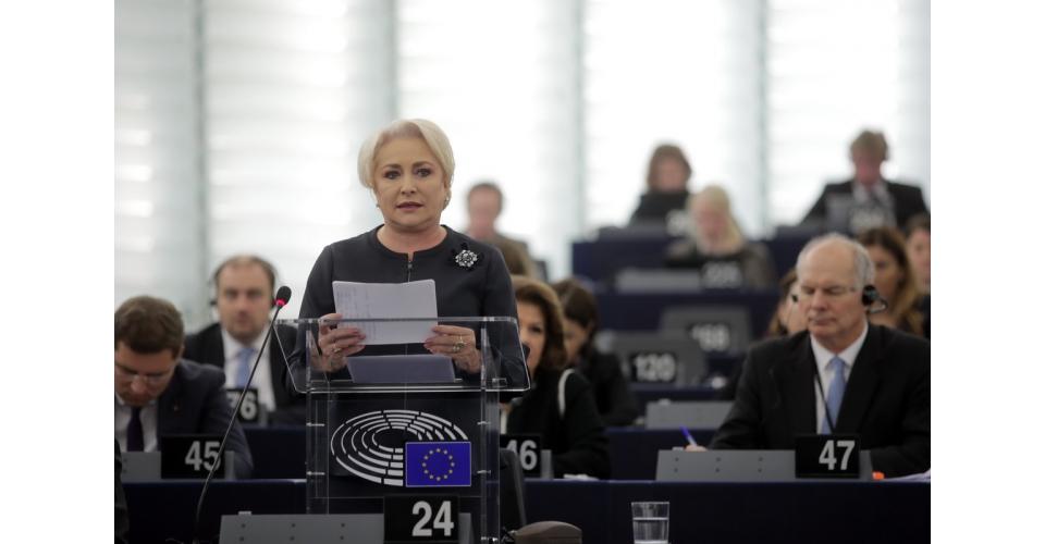 Prime Minister Viorica Dăncilă`s intervention in the Plenary of the European Parliament