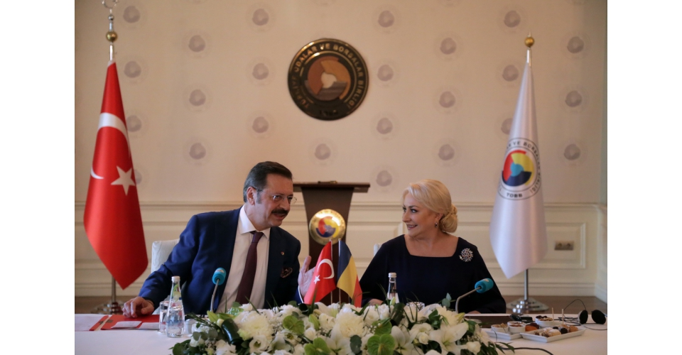 PM Viorica Dancila meets with the Union of Chambers and Commodity Exchanges of Turkey (TOBB)(...)