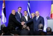 Declarații de presă comune susținute de prim-ministrul Viorica Dăncilă cu președintele sârb, Aleksandar Vučić și premierii bulgar, Boyko Borissov, grec, Alexis Tsipras, și israelian, Benjamin Netanyahu