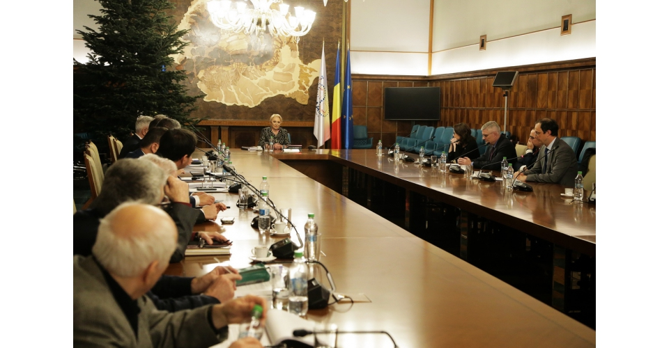 Prime Minister Viorica Dăncilă attends the meeting of the National Committee for Preparing the(...)