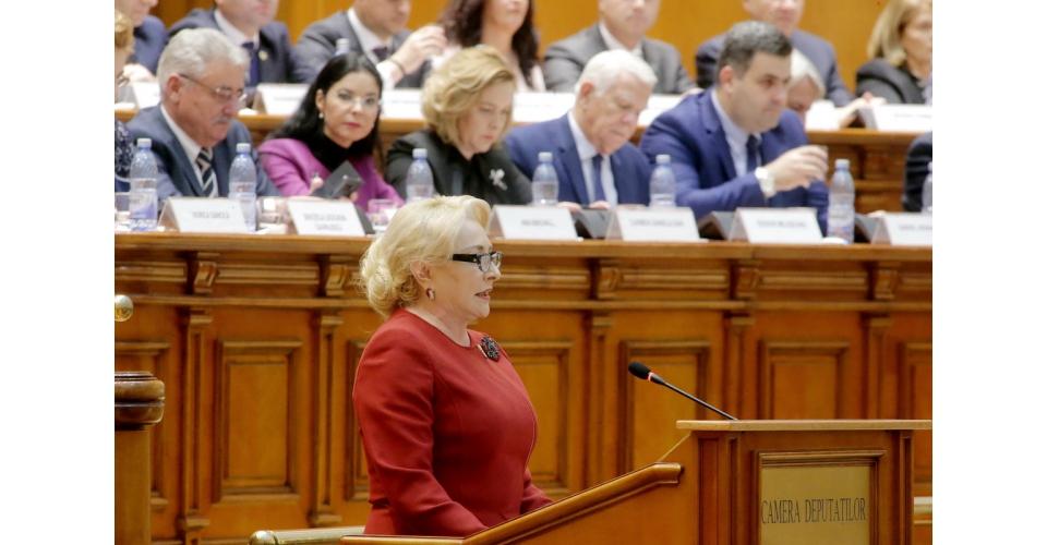 Discursul premierului Viorica Dăncilă la ședința comună a Camerei Deputaților și Senatului