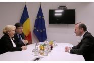 Întrevederea tête-à-tête a premierului Viorica Dăncilă cu președintele Grupului Partidului Popular European, Manfred Weber