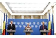 Declaraţii de presă susţinute de premierul Viorica Dăncilă, viceprim-ministrul pentru implementarea parteneriatelor strategice ale României, ministrul afacerilor interne, Mihai Fifor şi secretarul de stat pentru tehnologia informaţiei, Marian Murguleţ