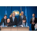 Joint press conference by PM Mihai Tudose and Transport Minister Felix Stroe