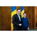 Vice Prime Minister Ana Birchall meets with the Republic of Moldova Minister of Foreign Affairs and(...)