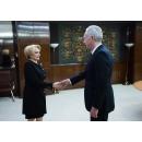 Prime Minister Viorica Dăncilă  meets with the U.S. Ambassador to Romania H.E.Hans Klemm