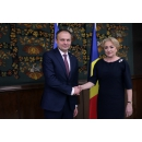 Prime Minister Viorica Dancila welcomes the President of the Parliament of the Republic of Moldova,(...)