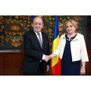Prime Minister Viorica Dancila meets with the Minister for Europe and Foreign Affairs of the French Republic, Jean –Yves Le Drian
