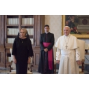 Prime Minister Viorica Dancila has a private audience with His Holiness Pope Francis