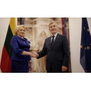 PM Viorica Dancila meets with the Speaker of the Lithuanian Parliament Viktoras Pranckietis, after(...)