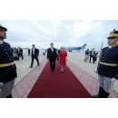 Visit to Constanta - PM Viorica Dancila attends alongside the Estonian PM Jüri Ratas the inauguration of the flight on Tallinn- Constanta route