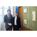 Vice Prime Minister for Romania's Strategic Partnerships Implementation Ana Birchall meets with the Assistant Secretary of State for European and Eurasian Affairs Wess Mitchell