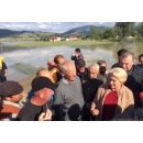 PM Viorica Dancila's visit to several flood-hit areas