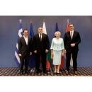 Prime Minister Viorica Dancila attends the high-level quadrilateral meeting of Romania, Bulgaria,(...)