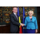 Prime Minister Viorica Dancila meets with the Minister of Foreign Affairs of the Republic of Latvia Edgars Rinkēvičs