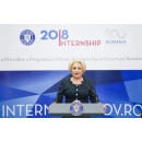 Prime Minister Viorica Dăncilă attends the opening of the Government Internship Programme, the(...)