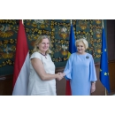 Prime Minister Viorica Dancila meets with the Austrian Foreign Minister Karin Kneissl