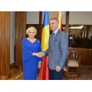 Prime Minister Viorica Dăncilă is welcomed by the Vice-President of the Assembly of the Republic of Macedonia Goran Misovski