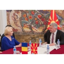 Prime Minister Viorica Dăncilă is welcomed by the President of the Republic of Macedonia Gjorge Ivanov