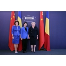 Prime Minister Viorica Dăncilă meets with Mrs. Shen Yueyue, Vice-Chairperson of the National(...)