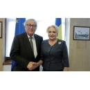 Prime Minister Viorica Dancila meets with the President of the European Commission Jean –Claude(...)