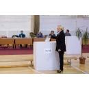 Prime Minister Viorica Dancila casts her ballot in the referendum