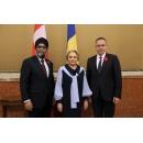 Prime Minister Viorica Dăncilă meets with Canada's Defence Minister Harjit Singh Sajjan